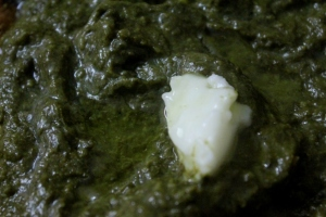 Velvetty sarson ka saag with melting white butter