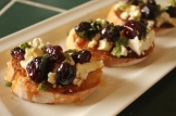 Roasted grapes with mint and ricotta for a fabulous bruschetta
